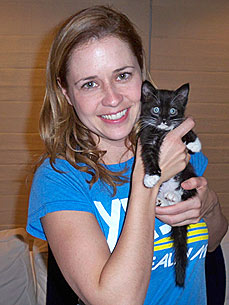 Office Star Jenna Fischer Helps Kittens Find Happy Endings