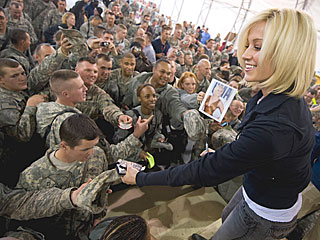 Kellie Pickler's USO Tour: Loved the Troops, Hated the Toilets