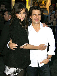Tom Cruise & Katie Holmes Link Up at Katy Perry Show