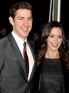 Couples Watch: John Krasinski & Emily Blunt Crack Up at Dinner