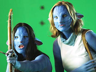 Olivia Munn Has the Blues – Literally! – in Avatar Parody