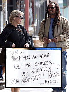 Renée Zellweger Plays Barista to Good Samaritan