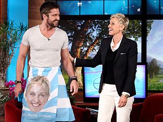 Ellen DeGeneres Gets Under Gerard Butler's Kilt
