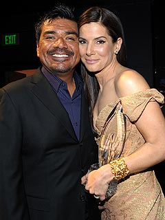 George Lopez Visits Sandra Bullock to Show Support