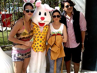 Katy Perry & Russell Brand Party with the Easter Bunny