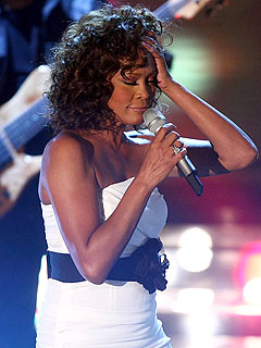 Whitney Houston Makes Shaky Comeback