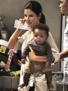 Sandra Bullock and Baby Louis Vacation in the Caribbean