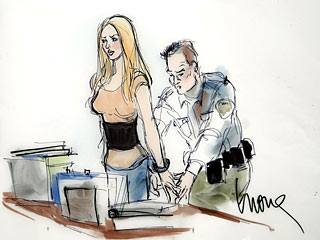 See Lindsay Lohan Getting Handcuffed