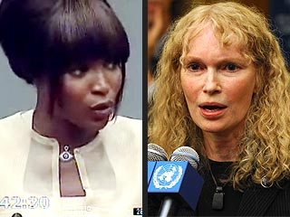 Mia Farrow Calls Naomi Campbell's Blood Diamonds Story a Lie