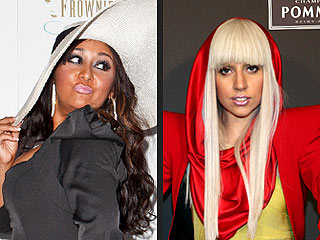 Halloween Celebrity Costumes Lady Gaga and Snooki