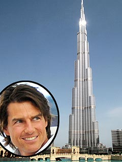 Tom Cruise Films Mission:Impossible Stunt Atop World's Tallest Building