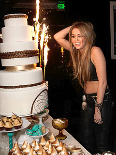 Miley Cyrus Kicks off 18th Birthday Celebration at Star-Studded Party