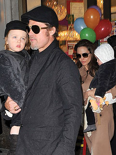 Brad Pitt and Angelina Jolie Visit Big Apple Art Supply Store