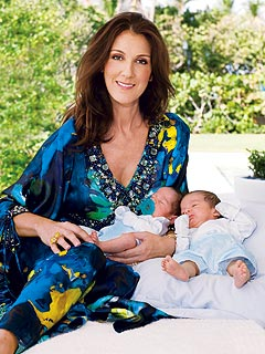 PHOTO: Céline Dion at Home with Twins Eddy & Nelson