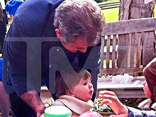 PHOTO: Mel Gibson Out with Baby Daughter Lucia
