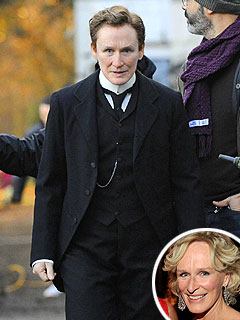 Glenn Close Dresses Like Man for Movie