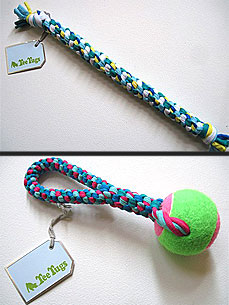 Etsy Fave! Recycled T-shirts Become Tug-tastic Toys for Pets