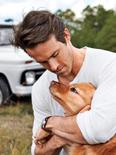 Ryan Reynolds  on Ryan Reynolds  Just Fell In Love  With His Shelter Pup  Baxter   Stars