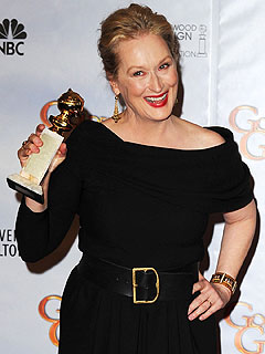 Meryl Streep at Globes: T-Bone and Tears