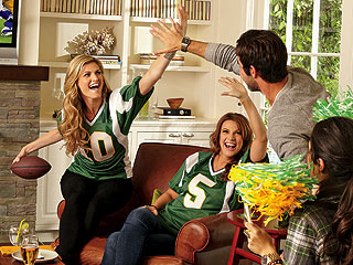 Erin Andrews Throws a Football Party