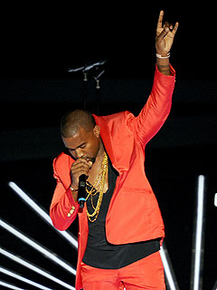 Kanye West Salutes 'Douchebags' at Video Music Awards