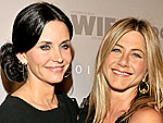 Jennifer Aniston & Courteney Cox Enjoy a Cocktail Party