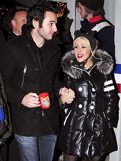 Christina Aguilera & Matt Rutler Stroll Berlin's Christmas Market