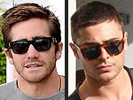 Jake Gyllenhaal Runs into Zac Efron at the Sunglass Shop | Jake Gyllenhaal, Zac Efron