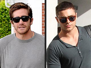 Jake Gyllenhaal Runs into Zac Efron at the Sunglass Shop