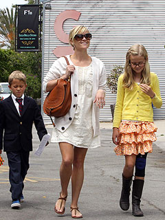 Reese Witherspoon Hosts a Family Lunch in L.A.