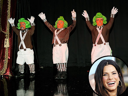 Sandra Bullock Parties at Vaudeville Show with Heidi Klum