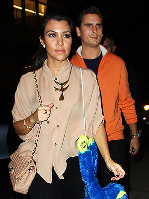 Kourtney Kardashian & Scott Disick's Glam Bowling Outing