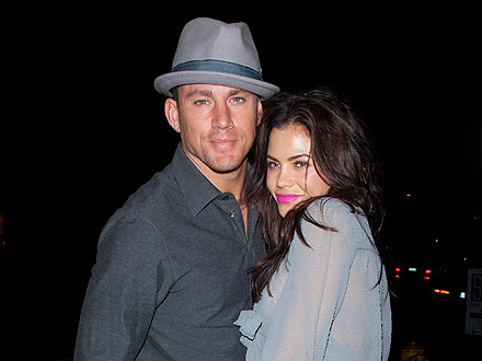 Channing Tatum Cozies Up to Jenna Dewan over Dinner