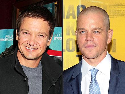 Jeremy Renner Runs Into Matt Damon at a N.Y.C. Nightclub