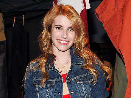 Emma Roberts Stocks up at Diesel