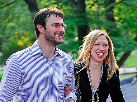 Chelsea Clinton Watches Football over Dinner with Her Hubby