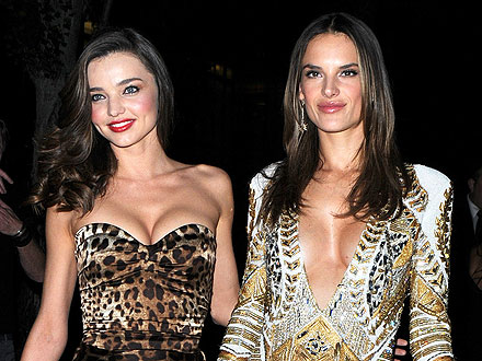 Miranda Kerr & Alessandra Ambrosio Watch Each Other Strip Down