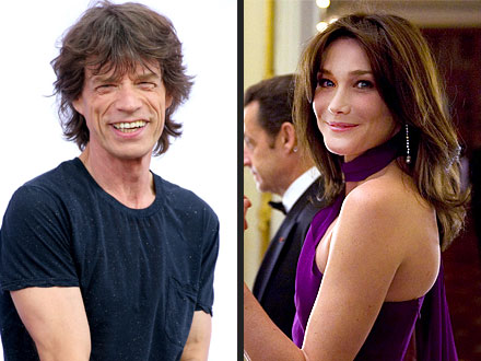 Carla Bruni-Sarkozy Has a Run-In with Her Ex: Mick Jagger!