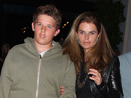 Maria Shriver's Sweet Mother-Son Dinner Date