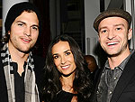 Score! Stars Party for the Super Bowl | Ashton Kutcher, Demi Moore, Justin Timberlake