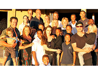 Brad Pitt & Angelina Jolie Have Family Time in Namibia