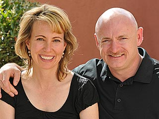 Gabrielle Giffords's Husband: She's Smiling, Rubbing My Neck