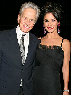 Catherine Zeta-Jones, Michael Douglas Have a Pizza Date