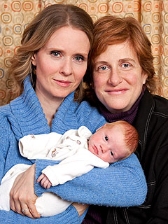 Cynthia Nixon, Christine Marinoni Introduce Son