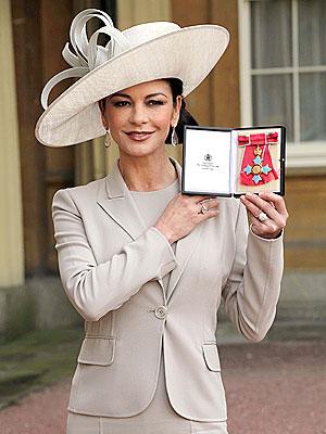 Catherine Zeta-Jones Becomes Commander of the Order of the British Empire