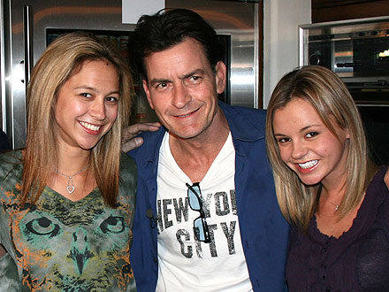 Charlie Sheen Goddesses Content with Arrangement