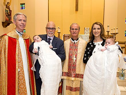 Celine Dion's Twins Baptized