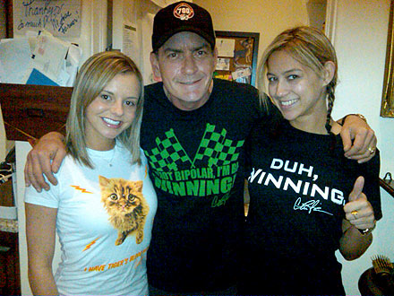 Charlie Sheen Reunites with His Goddesses