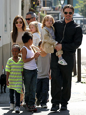 Angelina Jolie, Brad Pitt Out with the Family in New Orleans