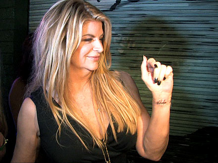 Dancing with the Stars - Kirstie Alley &#39;Unbroken&#39; Tattoo